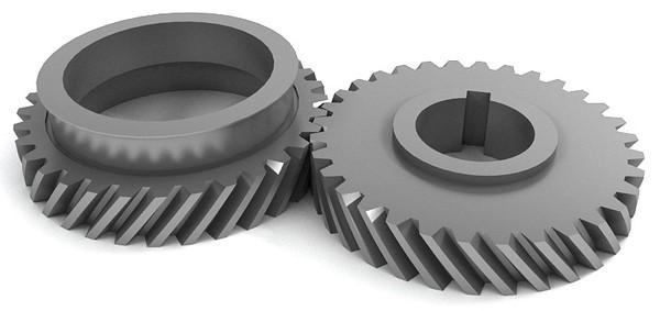 چرخ دنده مارپیچ یا helical